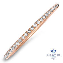 0.20ctw Half-Eternity Diamond Ring in 14K Rose Gold