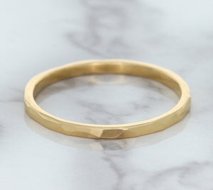 1.6mm Hammered Band in 14K Rose Gold