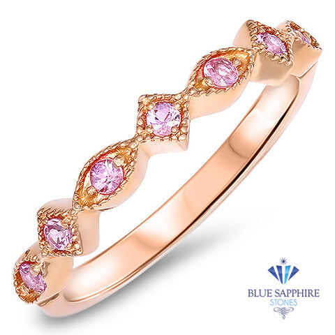 0.22ctw Pink Sapphire Alternating Marquise Ring in 14K Rose Gold