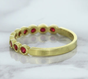 0.30ctw Round Ruby Ring in 14K Yellow Gold