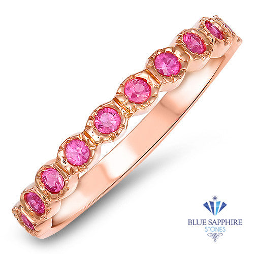 0.26ctw Round Pink Sapphire Ring in 14K Rose Gold