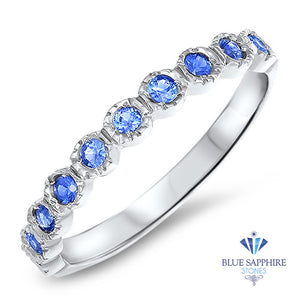 0.30ctw Round Blue Sapphire Ring in 14K White Gold