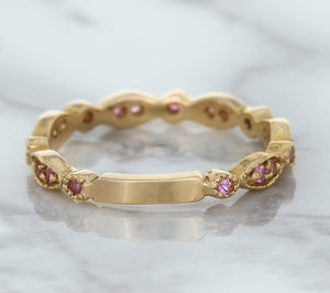 0.26ctw Pink Sapphire Alternating Marquise Ring in 14K Rose Gold