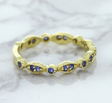 0.30ctw Blue Sapphire Alternating Marquise Ring in 14K Yellow Gold