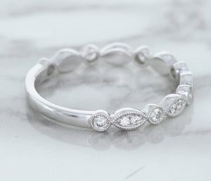 0.23ctw Diamond Alternating Marquise Band in 18K White Gold