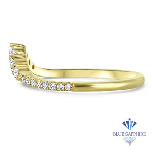 0.38ctw Diamond Pointed Band in 18K Yellow Gold