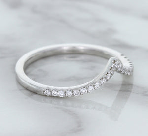 0.17ctw Diamond Pointed Band in 18K White Gold