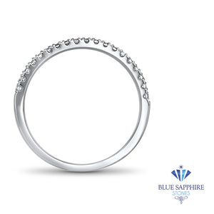 0.20ctw Diamond Half Eternity Band in 18K White Gold