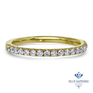 0.35ctw Diamond Half Eternity Band in 18K Yellow Gold