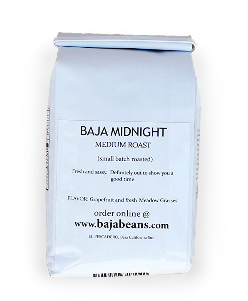 Baja Midnight - Med. Roast, Whole Bean - 14oz. / 400g