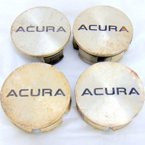 "SET (4) ACURA INTEGRA OEM WHEEL CENTER CAP PS+PPE MACHINED 2 1/4"" USED - Pilgreen Wheels & Tires"