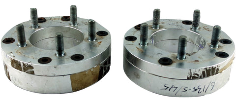 "Pair(2) FTW Wheel Adapters 2"" Spacer 6x135 to 5x4.5 12x1.5 Studs USED"