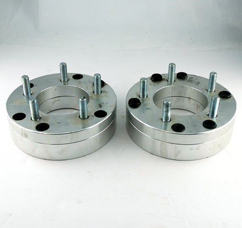 "Pair(2) FTW Wheel Adapters 2"" Spacers 6x5.5 to 5x4.75 12x1.5 Studs USED"