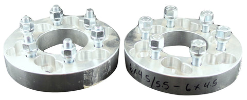 "Pair(2) FTW Wheel Adapter 6x4.5/6x5.5 to 6x4.5 1.25"" Spacer 12x1.5 Stud Lugs NEW"