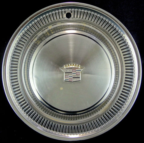 "15"" Cadillac Deville Wheel Hub Cap Cover 1974-1979 Chrome Metal USED"