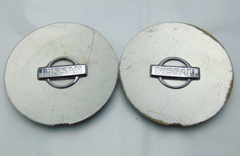 "Pair(2) Nissan Maxima OE Wheel Center Cap 999W1-7F150 Silver 97-99 5 1/4"" Used - Pilgreen Wheels & Tires"