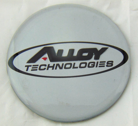 "Alloy Technologies Wheels Rim Center Cap Emblem Logo Silver 1 7/8"" New - Pilgreen Wheels & Tires"