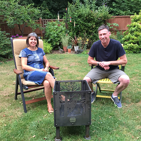 GBOF fire pit delivery to Newport, Shropshire