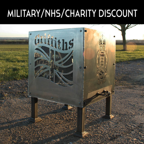 10% Military or NHS or Charity Discount on all our Fire Pits