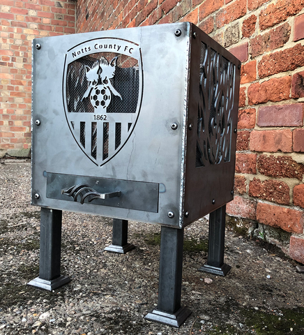Notts County Football Club (with Flames) Officially Licensed Fire Pit | 40/45/50cm Sizes Available