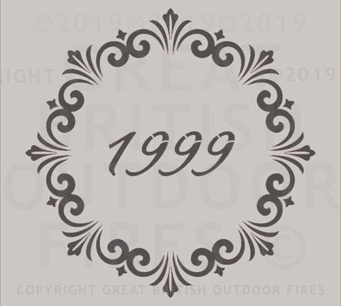 1999 Year Date in a Decorative Circle