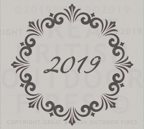 2019 Year Date in a Decorative Circle