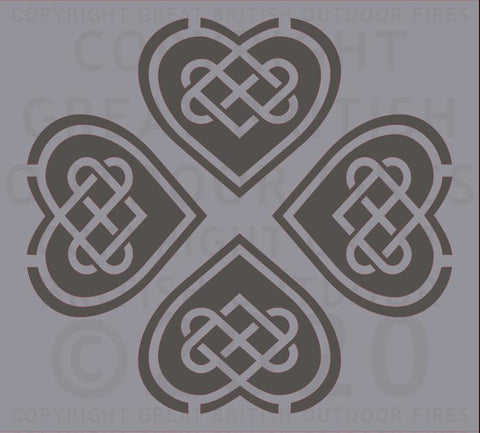 4 Celtic Hearts in Reverse