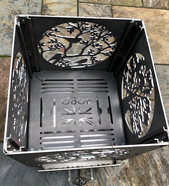 Oak Tree and Blackbirds BEST SELLER Fire Pit | 40/45/50cm Sizes Available