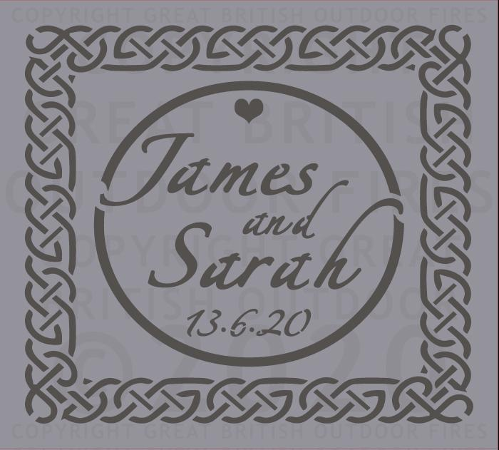 Celtic Border With Names (Wedding)