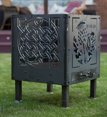 Off the peg 'Tree of Life Square and Celtic Knot' Fire Pit