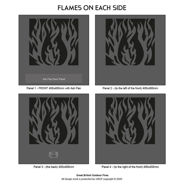 Flames All Around Fire Pit | 40/45/50cm Sizes Available