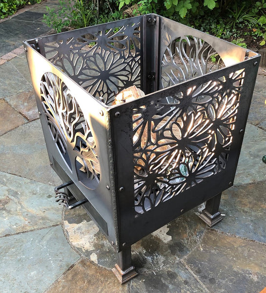 'Flowers and Tree of Life' Fire Pit | Size: Patio (500mm)