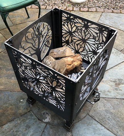 Flowers and Tree of Life Fire Pit | 40/45/50cm Sizes Available