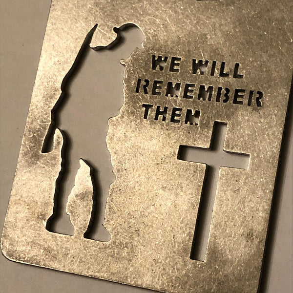 Military 'We will remember them' Stainless Steel Bottle Opener