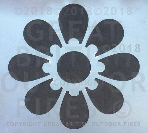 """This design is a large silhouette of a daisy."""