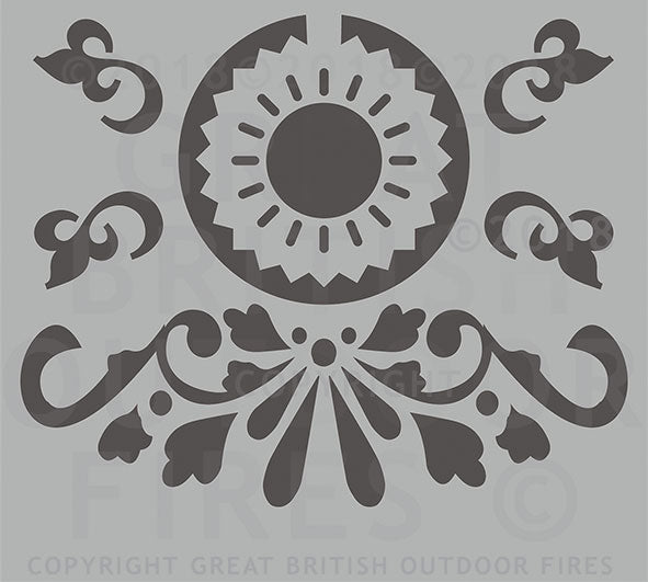 #swirls, #summer, #pattern, #anniversary present, #wedding, #present, #gift, #steel, #lasercut, #outdoor, #firepits, #panel, #garden #GreatBritishOutdoorFires, #madeinbritain, #handmade, #unique, #british-made, #britishmade