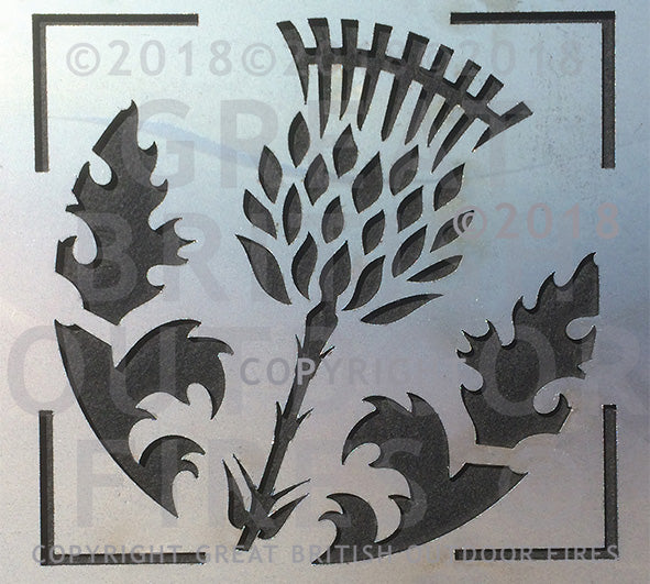 #thistle, #scottish, #scottishthistle, #flowers, #wedding, #present, #gift, #steel, #lasercut, #outdoor, #firepits, #panel, #garden #GreatBritishOutdoorFires, #madeinbritain, #handmade