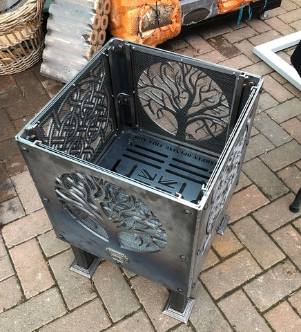 Celtic Square and Tree of Life Fire Pit | 40/45/50cm Sizes Available