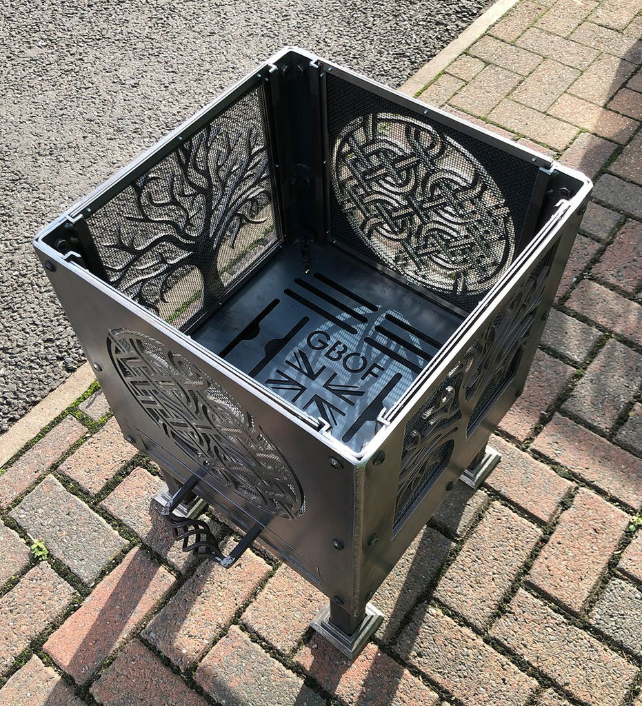 Tree of Life Square and Celtic Knot Circle Fire Pit | 40/45/50cm Sizes Available