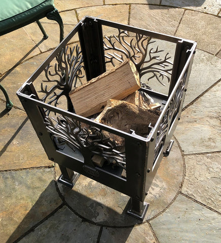 'Tree of Life Square' Fire Pit | Size: Courtyard (400mm)