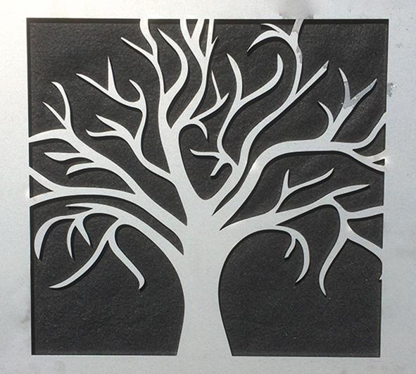 """This design is the mulberry bush, sometimes called the Tree of Life, set in a square frame."""