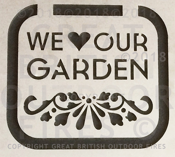#weloveourgarden, #gardenornaments, #gardengifts, #flowers, #wedding, #present, #gift, #steel, #lasercut, #outdoor, #firepits, #panel, #garden #GreatBritishOutdoorFires, #madeinbritain, #handmade