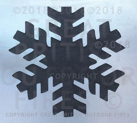 """This design is a large silhouette of a snowflake."""