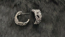 Load and play video in Gallery viewer, BROOKLYN - Multi-Crystal Modern Huggie Earrings In Silver