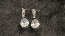 Load and play video in Gallery viewer, ALISA - Large Teardrop With Multi-Shaped CZ Earrings In Silver