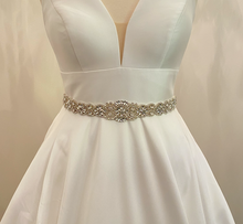 Load image into Gallery viewer, CLAIRE - Ornate Scalloped-Edged Belt Sash In Silver