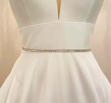 Load image into Gallery viewer, NORA - Chic Ultra-thin Crystal Belt Sash In Silver