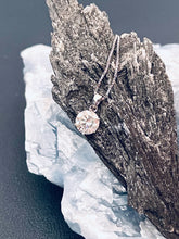 Load image into Gallery viewer, VICTORIA - Classic Round- Cut Moissanite Solitaire Necklace In Silver