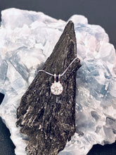 Load image into Gallery viewer, LUNA - Double Bale Solitaire Round Moissanite Necklace In Silver