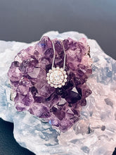 Load image into Gallery viewer, NORA - Moissanite Floral Cluster Necklace Iin Silver